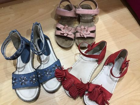 Sandały sandałki 3pary rozmiar 32