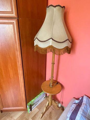 Lampka z abażurem PRL