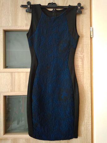 Sukienka czarna granatowa XS jak nowa