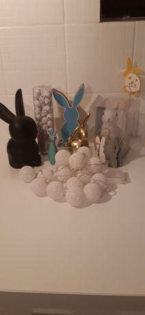 Dodatki dekoracje Wielkanoc Zające...