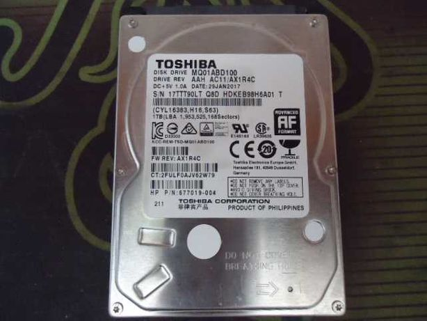 Жесткий диск Toshiba HDD 1Tb/1000Gb