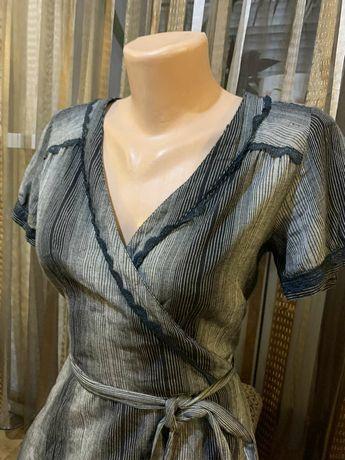 Шикарное платье на запах SOAKED in luxury