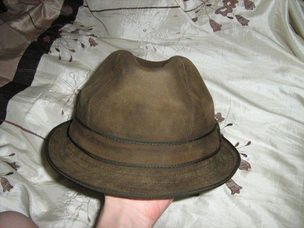 Мужская кожаная шляпа