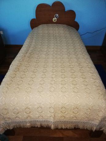 COLCHA castanha clara cama solteiro 1,55x2,20 muito quentinha
