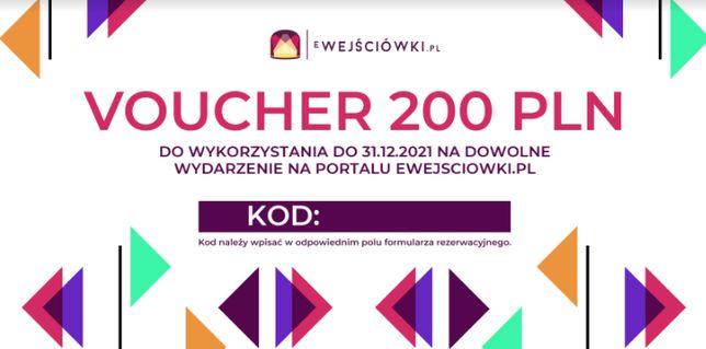 Voucher 200 zł na dowolne wydarzenie portal ewejsciowki.pl