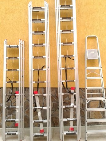 Драбина,лестница,стремянка,алюминиевая 5,09м 3x8 Intertool LT-0308