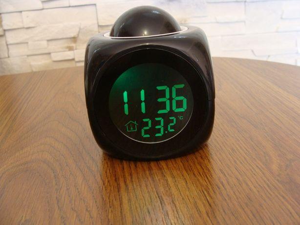 Budzik zegar wielofunkcyjny LCD z projektorem