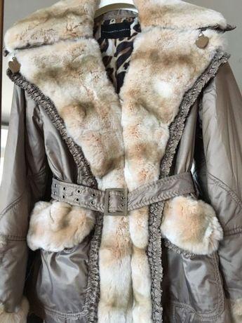 Итальянская курточка с натуральной меховой отделкой