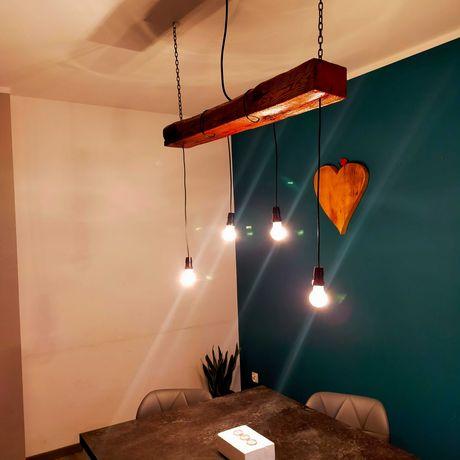 Żyrandol stara belka lampa wisząca lampa w stylu 100