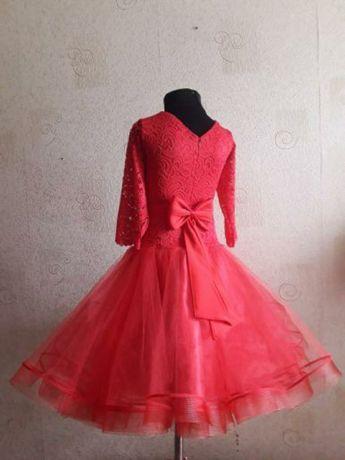 Платье для спортивно бальных танцев стандарт бейсик 140-146см