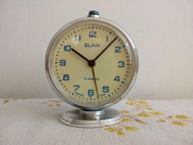 Budzik zegar Slava 11 kamieni ZSRR CCCP PRL lata 70-te