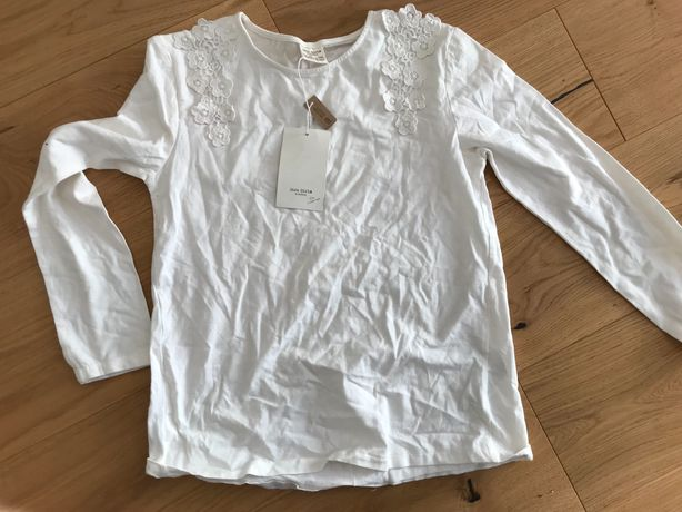 Nowa elegancka bluzka Zara biała, r. 140, 10 lat