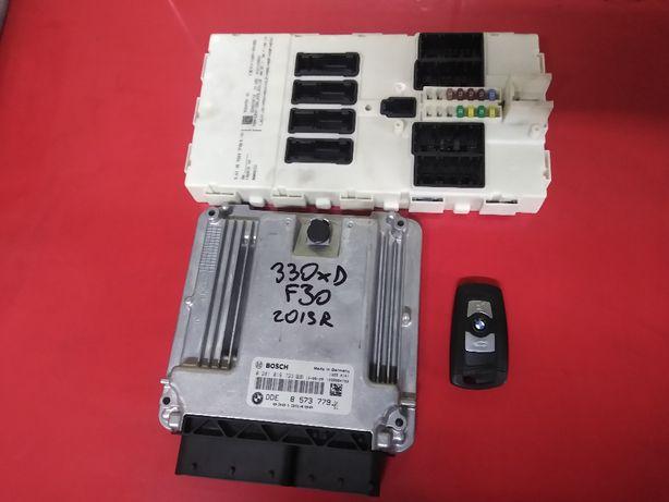 BMW F30 330d 258KM N57 komputer silnika fem kluczyk komplet