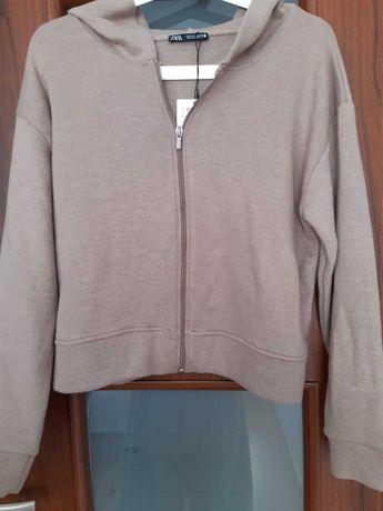 Bluza z kapturem rozpinana Zara basic S - nowa