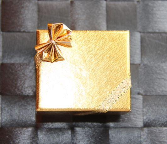 Pudełko bransoletka łańcuszek złoty apart kruk yes kolczyki wisiorek