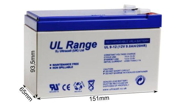 Akumulator bateria do zabawki dla dzieci Żelowy ULTRACELL 12V 9Ah