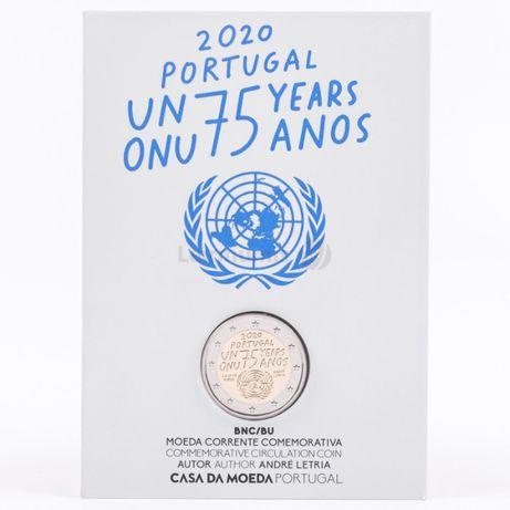 Moeda de 2 euros BNC ONU - 75 anso - 2020