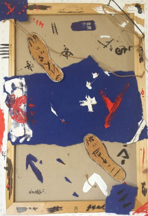 Pintura - técnica mista em tela - Viagem iniciática