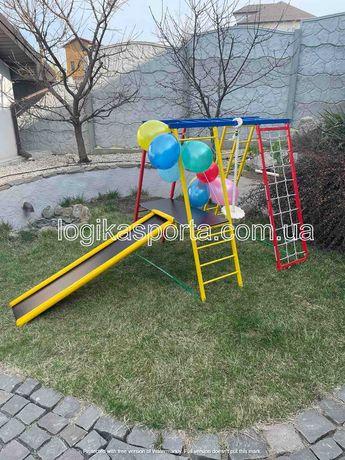 Игровая площадка, детский спортивный комплекс, горка, домик, качели