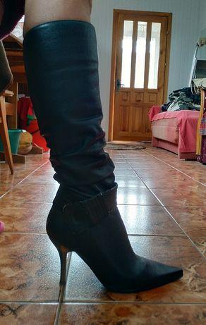 Сапоги женские кожаные