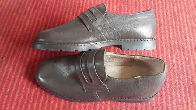 Кожаные детские туфли 35р.