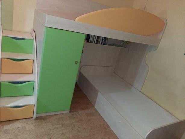 Двухъярусная кровать + Тумба-лестница