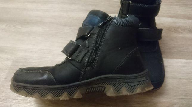 Ботинки кожаные цигейка  размер 33
