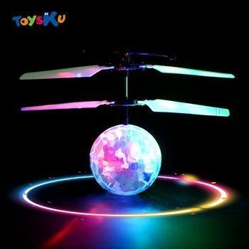 Летающий светящийся сенсорный шар, игрушка вертолет с пультом