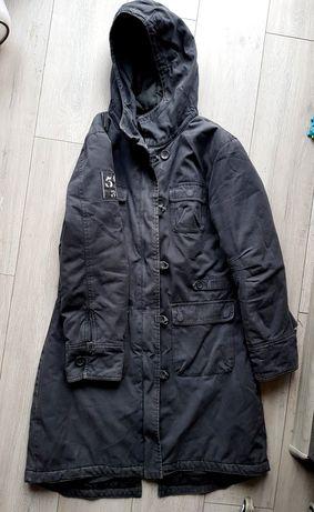 Kurtka płaszcz parka Amisu grafit ciemna szara 42 XL