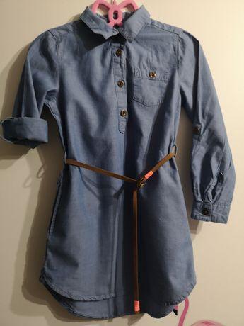 Sukienka z paskiem jeansowa h&m logg 110