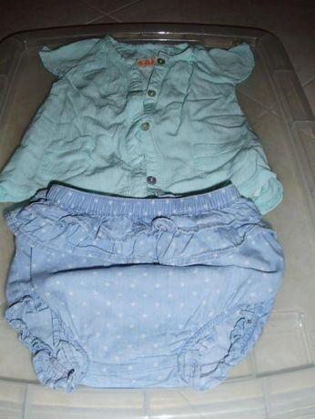 blusa e tapa fraldas 6-9M (oferta portes)