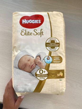Подгузники Huggies Elite Soft Newborn 0+ (до 3,5 кг), 50 шт.
