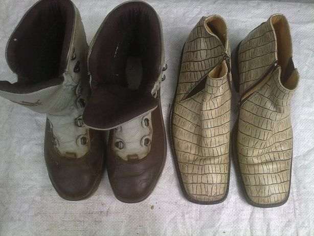 Крокодиловые ботинки