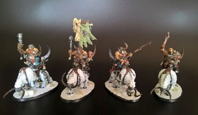 Warhammer Age of Sigmar Beastclaw Raiders Mournfang Pack [Qb]