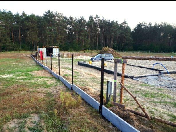 Dom- fundamenty, działka budowlana 1000m2 Osówiec