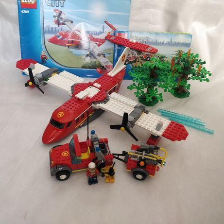 Лего lego 4209 пожарный самолёт пожарная машина деревья