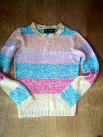 Śliczny pastelowy sweterek Atmosphere XS