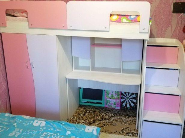 Кровать горка чердак мебель в детскую для девочки