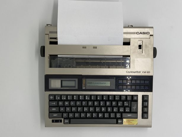 Elektroniczna maszyna do pisania Casiowriter CW-20