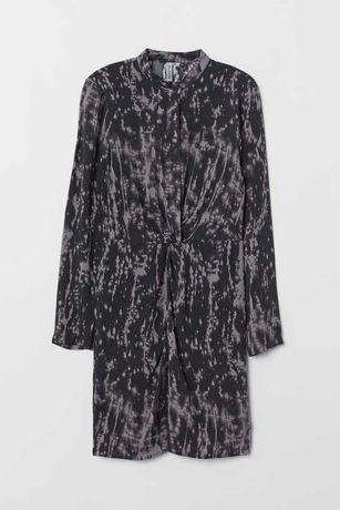 Воздушная легкая туника платье с узлом H&M  XXS-XS/32-34