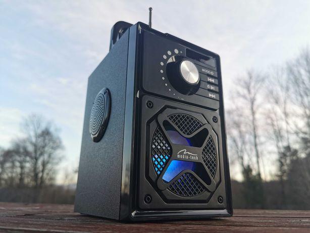 Kolumna Radio Przenośne FM Głośnik BLUETOOTH MP3 budowlane Subwoofer