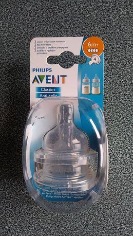 Соска силиконовая на бутылочку Avent