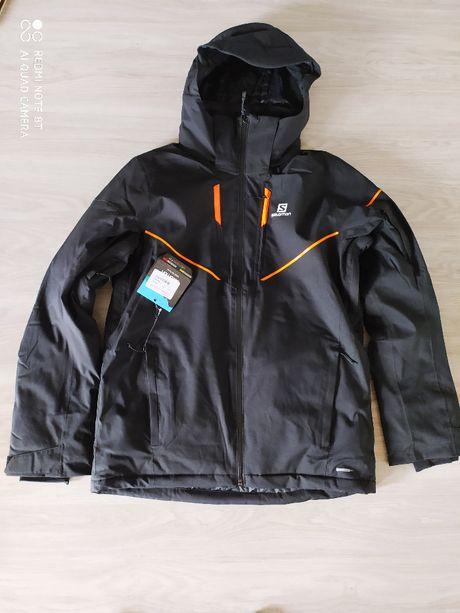Kurtka Narciarska Salomon Stormrace (czarna/pomarańcz) r.M -50%