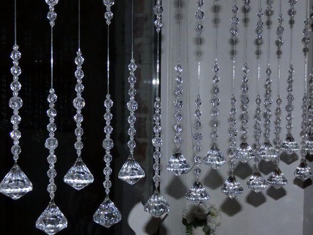 KRYSZTAŁKI NA OKNO 100 cm *piękne diamenty* KORALIKI