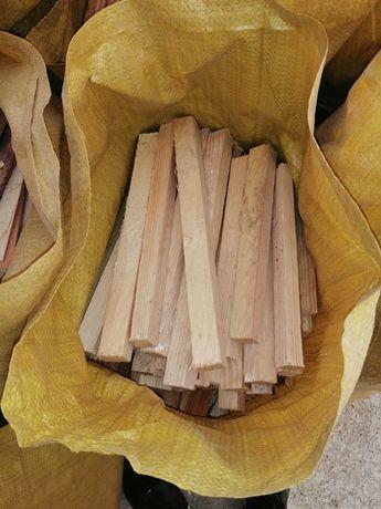 drewno opałowe workowane opał rozpałka worek