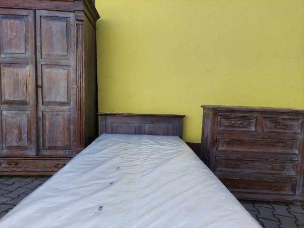 Drewniany Komplet mebli sypialnia