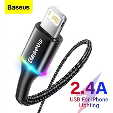 Kabel Baseus LED USB typ iPhone (Apple) 110cm