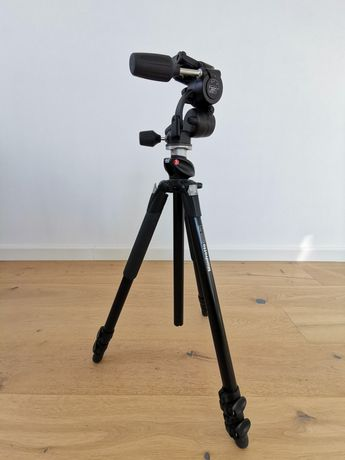 Statyw Manfrotto 055XPROB + głowica 808RC4