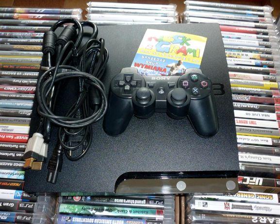 Konsola PS3 Slim 250GB + oryg. pad. Gwarancja, sklep [Warszawa]