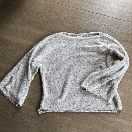 ZARA bluzka sweterek beż świetny fason r. S/M